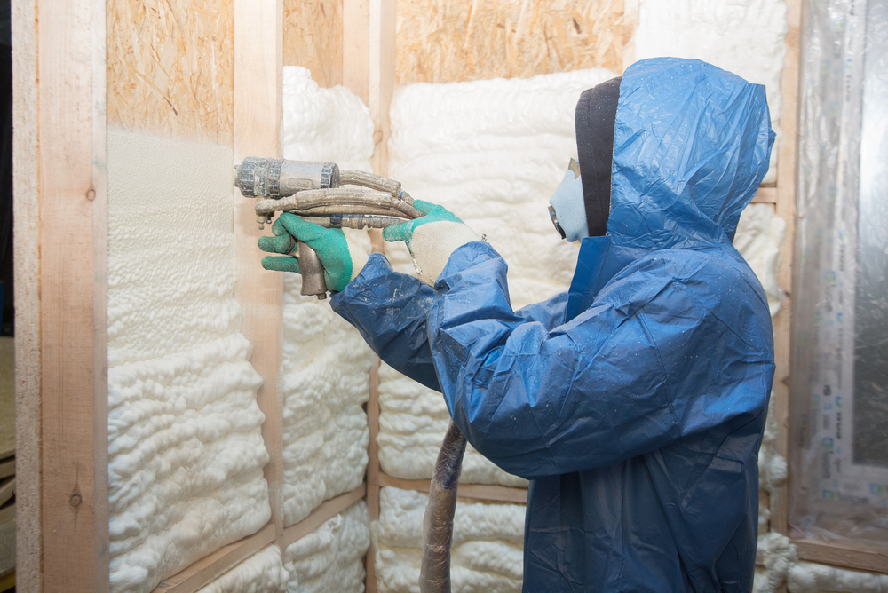 spray foam insulation installation